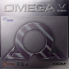 XIOM OMEGA V EURO PLASTIC BALL READY TABLE TENNIS RUBBER OFFICIAL UK