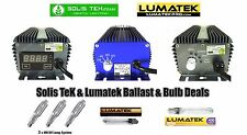 600w Digital Ballast Selection, Solis Tek, Lumatek, Pro 400v