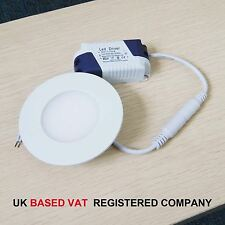 3W to 24W Warm White LED Recessed Ceiling Flat Panel Light Downlight Round