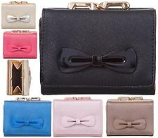 LADIES FASHION DESIGNER STYLE BOW SMALL COIN PURSE WOMENS WALLET CARD HOLDER
