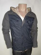 DUVETICA 'Peleo' Navy Blue Fitted Down Windbreaker Hooded Jacket 42 RRP: £295.00