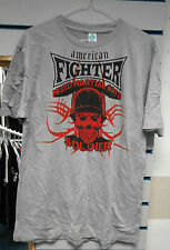 AMERICAN FIGHTER ADULT 2XL MMA UFC GREY MIXED MARTIAL ARTS SOLDIER T SHIRT