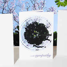 With sympathy Sympathy card wishes for loss death condolences card personalise