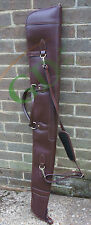 DARK BROWN GUARDIAN LEATHER SHOTGUN SLIP, FULL LENGTH ZIP, SHOTGUN CASE, 268SL