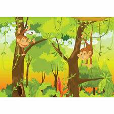 "Vlies Fototapete ""Jungle Animals Monkeys"" ! Kindertapete Tapete Kinderzimmer Saf"