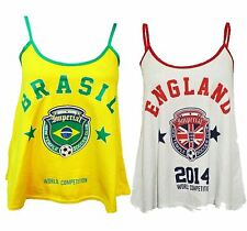 New Womens World Soccer Football Competition Support Swing Vests 8-14