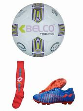 Nivia Ultra-1 Football Shoes+ Belco Tornado Football+ Lotto Socks Combos