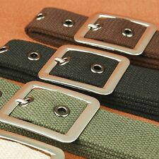 Unisex Canvas Belt Mens Casual Outdoors Utility Metal Pin Buckle Waistband Strap