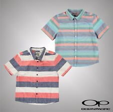 New Junior Boys Ocean Pacific Lightweight All Over Print Shirt Top Size Age 7-13