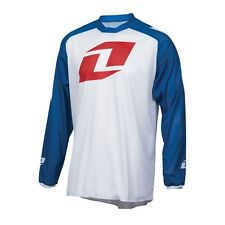 One Industries Atom Vented Icon Long Sleeve Jersey White/Blue 2016 Mountain Bike