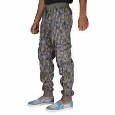 Greentree Mens Track Pant Cargo Pockets Sports Jogging Lower Army Print MASR56