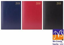 2018 A5 WEEK TO VIEW WTV Diary Hardback Desk Diary-3183
