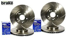 For Nissan 200SX S14 Front & Rear Evora Dimpled & Grooved Discs & EBC Redstuff P