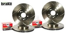 For Nissan 200SX S14 Front & Rear Evora Dimpled Grooved Brake Discs & Mintex Pad