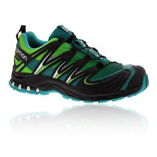 Salomon XA Pro 3D Womens Green Black Gore Tex Waterproof Walking Shoes