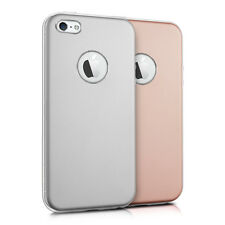 kwmobile HARDCASE ALUMINIUM SILIKON CASE FÜR APPLE IPHONE SE 5 5S BACKCOVER TPU