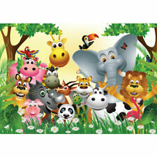 "Vlies Fototapete ""Jungle Animals Party"" ! Kindertapete Tapete Kinderzimmer Dschu"