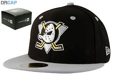 New Era 59Fifty Anaheim Ducks Team NHL Black Fitted Flat Peak Baseball Cap