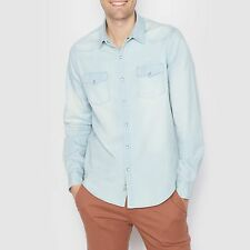 Soft Grey Mann Jeanshemd, Regular Fit, Lange Armel