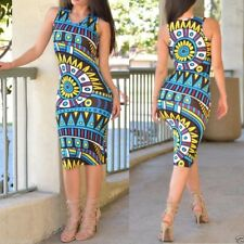 vestido etnico fiesta formal ajustado casual ETHNIC PRINT BODYCON SUMMER DRESS