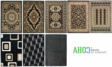 Black New Small X Large Shaggy Modern Traditional Soft Area Rugs Mat Carpet Rug