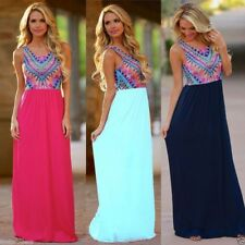 vestido etnico casual veraniego largo LONG SUMMER ETHNIC FASHION MAXI DRESS