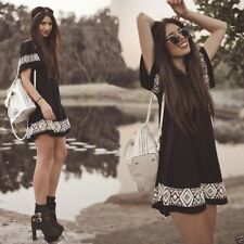 mini vestido hippy etnico casual BOHO ETHNIC HIPPIE FASHION SUMMER MINI DRESS