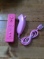 Pink Wii Remote Controller and Nunchuck Nunchuk Set for Nintendo Wii Console.