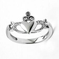 Irish Claddagh Ring Sterling Silver & CZ Made in Ireland