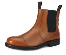 Frank James Benchgrade Leather Handmade Welted Chelsea Dealer Rubber Sole Boots