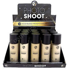 W7 Photo Shoot 16 Hour Budge Proof Foundation Glass foundation Shades Available