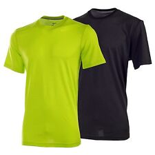 Nike Men's Dri-Fit Touch Stripe Short Sleeve Tee Black Green T-Shirt 588623