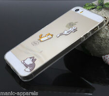 iPhone 5 / 6 case: Cute cats transparent PC hard cover for iPhone 5,5S, 5G ,SE,6