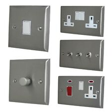 Spectrum Brushed Stainless Steel SSSW Light Switches, Plug Sockets, Dimmers, TV
