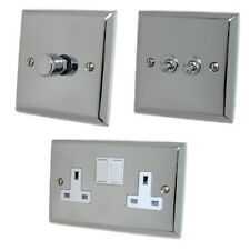 Spectrum Polished Chrome SCW Light Switches, Plug Sockets, Dimmers, Cooker, Fuse