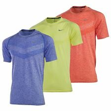 Nike Men's Dri-Fit Knit Short Sleeve Tee Blue Green Orange T-Shirt 642121