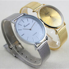 Geneva Women's Fashion Watch Stainless Steel Band Analog Quartz Wrist Watch+gift