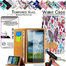 Leather Wallet Case +Tempered Glass Screen Protector For Jiake Mobile