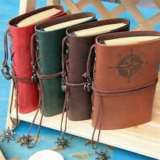 1x Vintage Classic Retro Leather Journal Travel Notepad Notebook Blank Diary