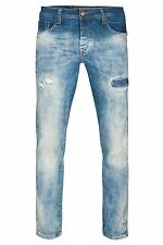 NEU CIPO & BAXX Destroyed Jeans Hose Herren Jeans Denim Blau CD157B Herrenjeans