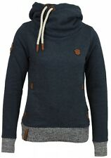 Naketano Damen Kapuzenpullover The Dark Side  Indigo Blue Melange