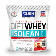 USN Diet Whey Isolean 454g / 1kg / 2kg Low Carb High Protein Weight-Loss Shake