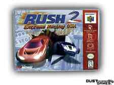 Rush 2 Extreme Racing USA Nintendo 64 N64 Game Case Box Professional Quality!!!