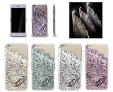 lusso 3D Angel Wings ultra sottile custodia cover posteriore rigida per iPhone