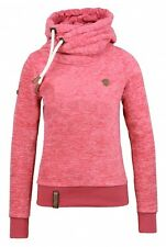 Naketano Damen Fleece Hoodie Glitzermuschi III  Candy Red Melange