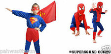 Baby And Blossoms Superman & Spiderman Superhero Cosplay Carnival Combo