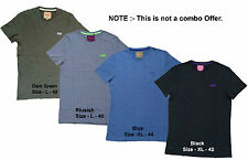 Men's 100% Genuine Slim Fit Short Sleeves Plain T-shirts