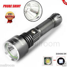 Zoomable CREE XPE-R3 LED 2000LM Lamp Clip Flashlight Fackel Taschenlampen 18650