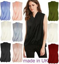 Women's Ladies Sleeveless Vest T Shirts Tops Blouse for Work Holiday Party WrkSh