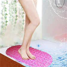 HOME BATHROOM SHOWER ANTI NON SLIP SAFETY SAFE BATHMAT FLOOR MAT PVC SUCTION CUP